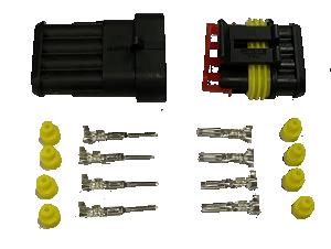 Superseal connector 4 Polig compleet