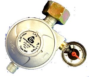 Drukregelaar + afbl.ventiel+ manometer
