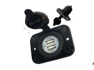 USB inbouwbus 2,4A + 2,4A 12V