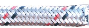 Brandstofslang metaalomvlechting 6 x 11 mm