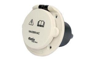 MP-inlet pvc 16A 230 V
