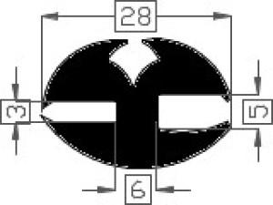 Raamrubber TPE zwart 3/5