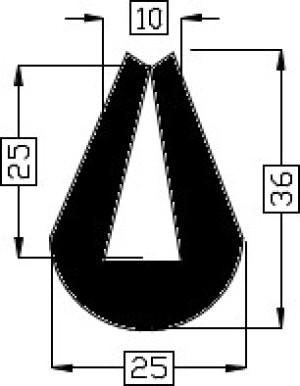 TPE Fender zwart 1/5 TPE