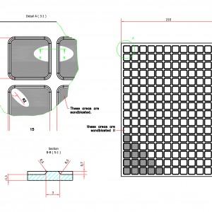 Blokjes profiel 2 meter