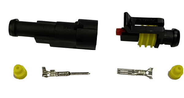 Superseal connector 1 Polig compleet