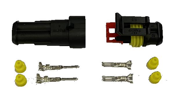 Superseal connector 2 Polig compleet