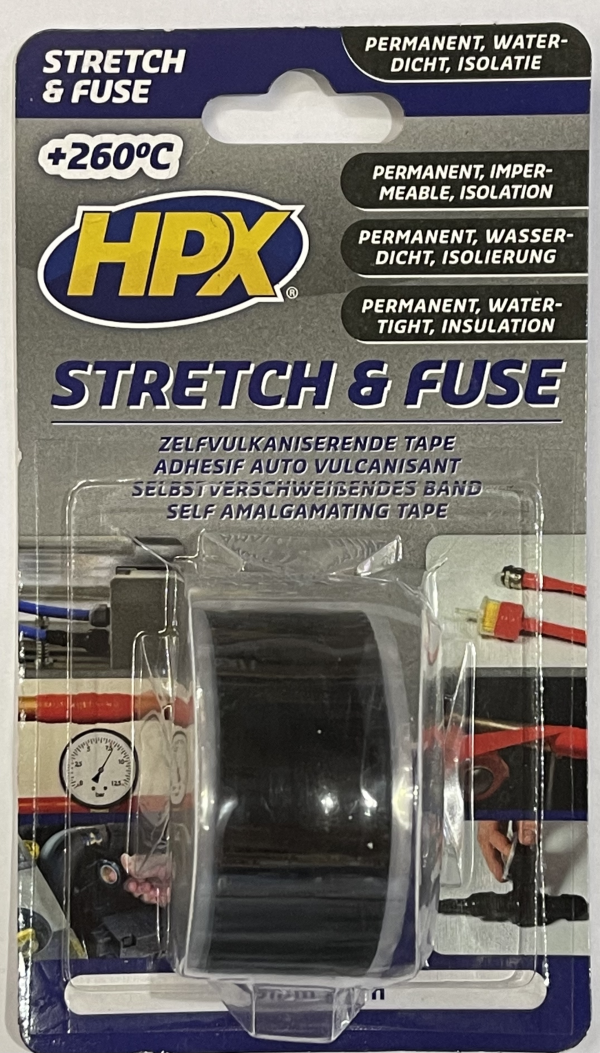 HPX Stetch and Fuse Tape Zwart