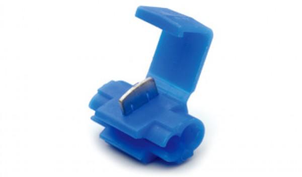 Zelfstrippende connector 2 draad naar 1 draad voor kabel 1,5-2,5 mm  Blauw