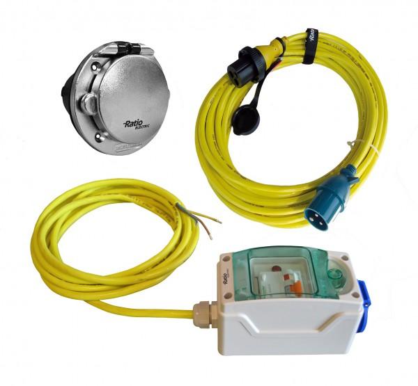 MP16 Kit Chromed Plastic Inlet